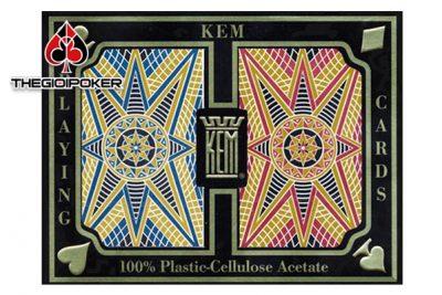 bài tây nhựa kem k2 được làm từ nhựa 100% plastic cho chất lượng bài vô cùng tốt