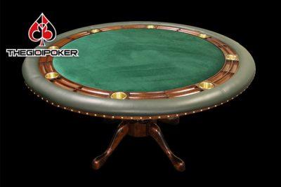 Bàn poker cao cấp T1 Vip được nhập khẩu nguyên set vô cùng đẹp và chất lượng