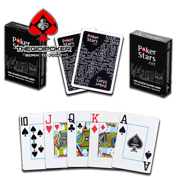 Bài tây nhựa poker star màu đen cực đẹp