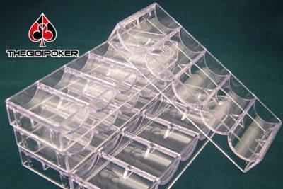 khay đựng chip poker hay còn gọi là trays poker rời, đựng tối đa được 100 quân chip poker