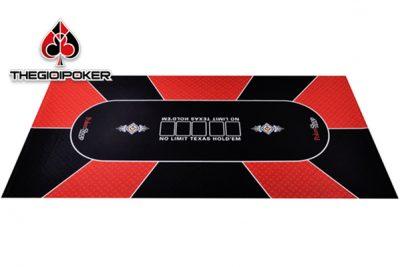 thảm poker cao su cao cấp màu đỏ rất đẹp