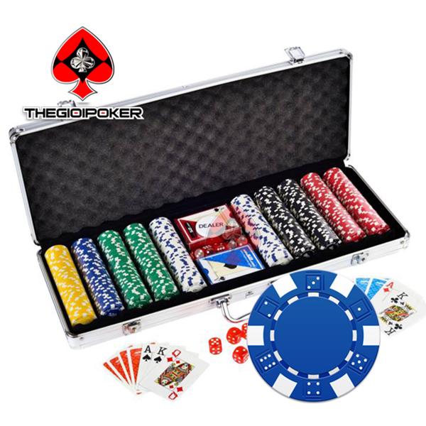 phỉnh poker cao cấp không số 3tone chất liệu ABS lõi thép nặng tiêu chuẩn 12.5gram