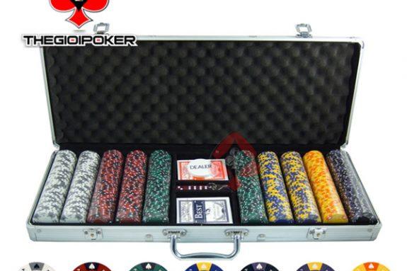phỉnh poker không sô cao cấp chất liệu clay smith