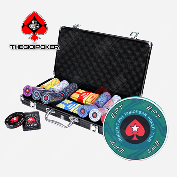 Poker chip set EPT 300 chip poker ceramic