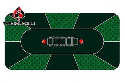 thảm poker cao su cao cấp M3 màu xanh lá cây green rất đẹp