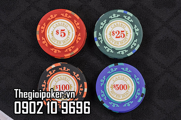 Chip Poker river Boat Casino rất đẹp