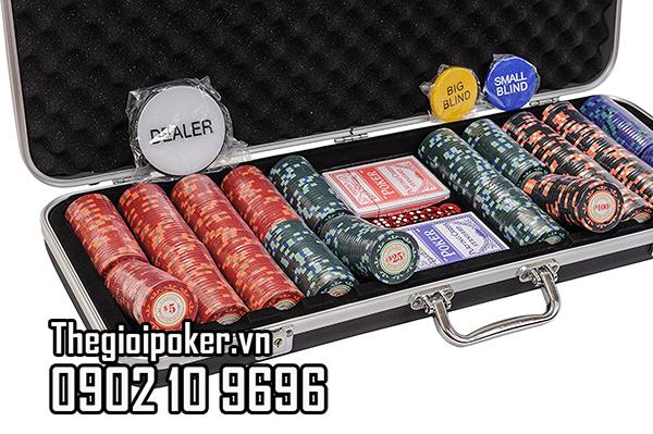 Phỉnh poker 500 chip cho 10 người chơi