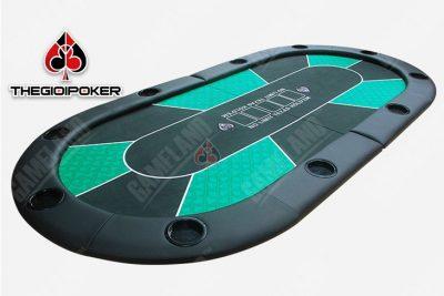 bàn poker đa năng màu xanh lá rất đẹp