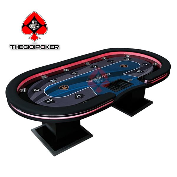 bàn poker table đẳng cấp quốc tế với dải đèn Led đổi màu cực chất
