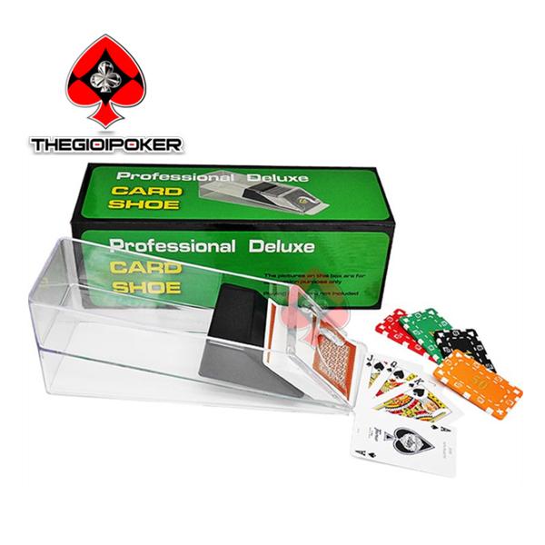 hộp rút bài bacarrat poker 6 đến 8 bộ bài