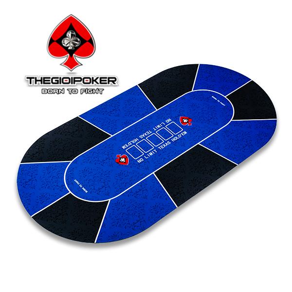 Thảm poker cao su cao cấp M7 được thiết kế dành cho 10 người chơi với kích thước 90x180cm có túi thể thao rất tiện cho việc di chuyển