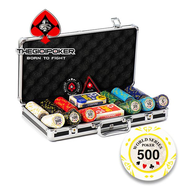 phỉnh poker 300 chip poker world series poker chất liệu clay cao cấp