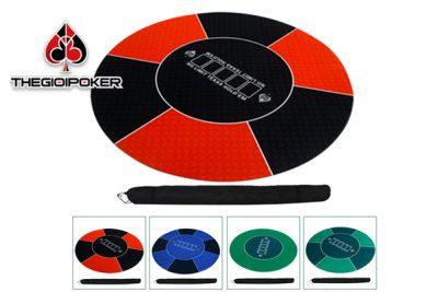 Thảm chơi poker cao su cao cấp hình tròn rất đẹp