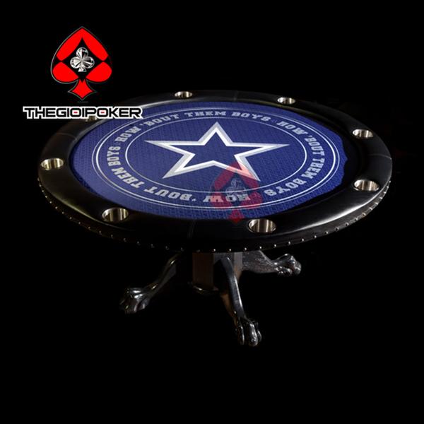 bàn poker cao cấp tròn dành cho 8 người chơi được thế kế ngôi sao đẳng cấp