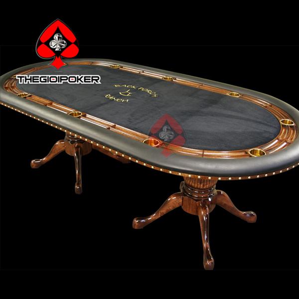 Bàn poker nhập khẩu cao câp thể hiện sự đẳng cấp của người chơi poker hay các club danh tiếng