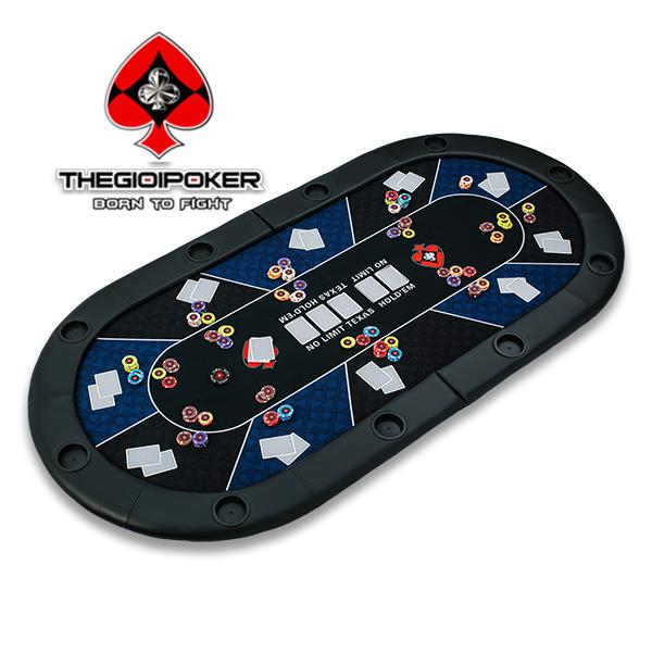 Bàn Poker đa năng nhỏ gọn có thể gấp đôi lại được rất tiện dụng