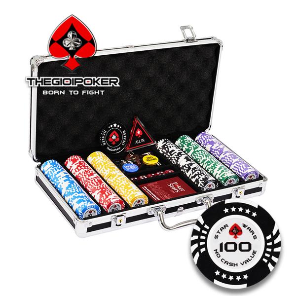 bộ 300 chip poker clay star wars mới nhất 2021 được nhập khẩu bởi THEGIOIPOKER