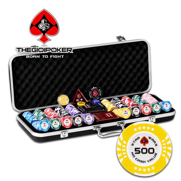 Bộ 500 chip poker clay Star Wars được nhập khẩu và phân phối độc quyền tại Việt Nam