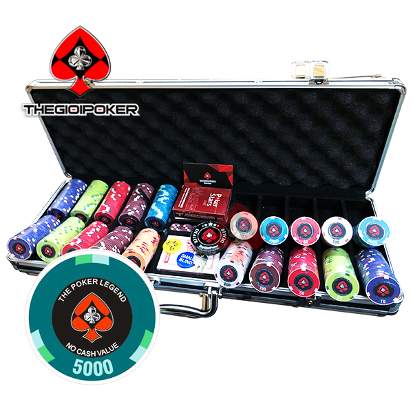 Bộ CHip Poker 500 phỉnh poker Legend ceramic 2020