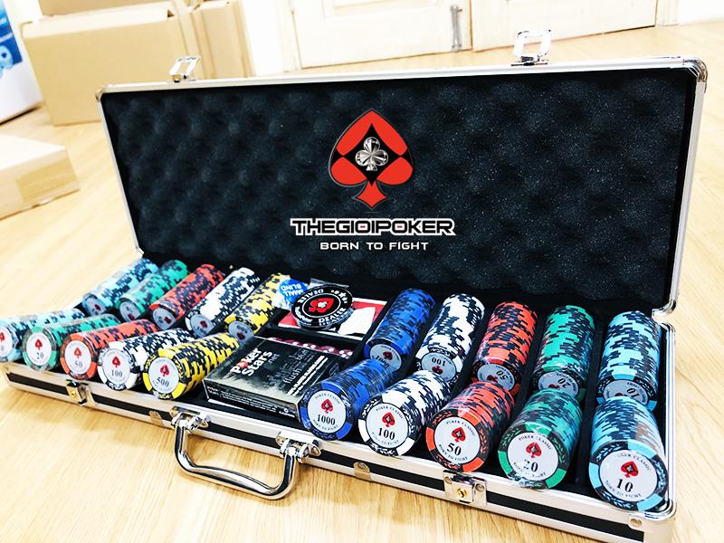 Chip Poker 500 phỉnh poker classic chất liệu clay cao cấp chuyên nghiệp cực đẹp