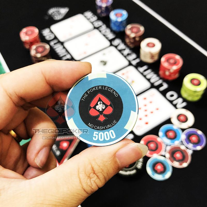 Chip Poker Ceramic Legend mệnh giá 10000 rất đẹp