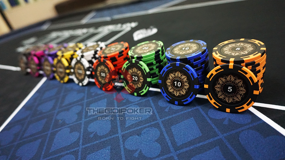 chip poker crown clay đẳng cấp