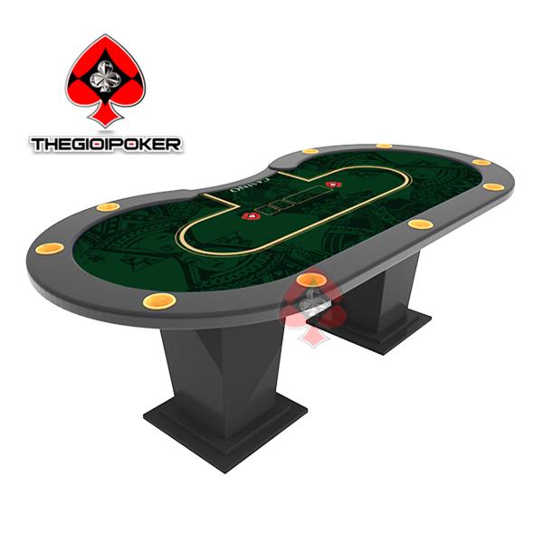 Bàn Poker cao cấp dành cho 10 người chơi được thiết kế in logo riêng cho các club poker tại Việt nam