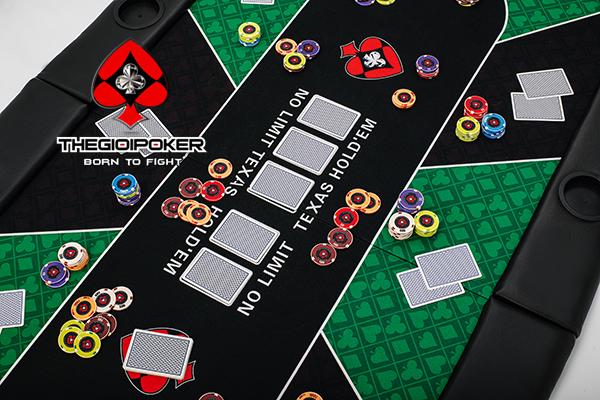 Mặt bàn poker chuyên nghiệp màu xanh lá cây bắt mắt