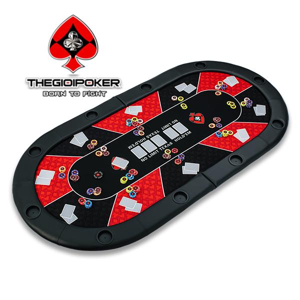 mặt bàn poker đa năng có thể gập đôi rất tiện dụng dễ dàng di chuyển