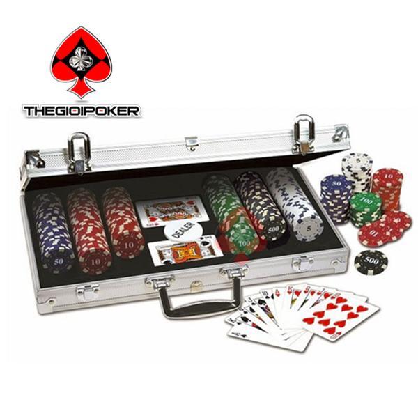 phỉnh poker 300 chip poker có số basic chất liệu ABS lõi thép