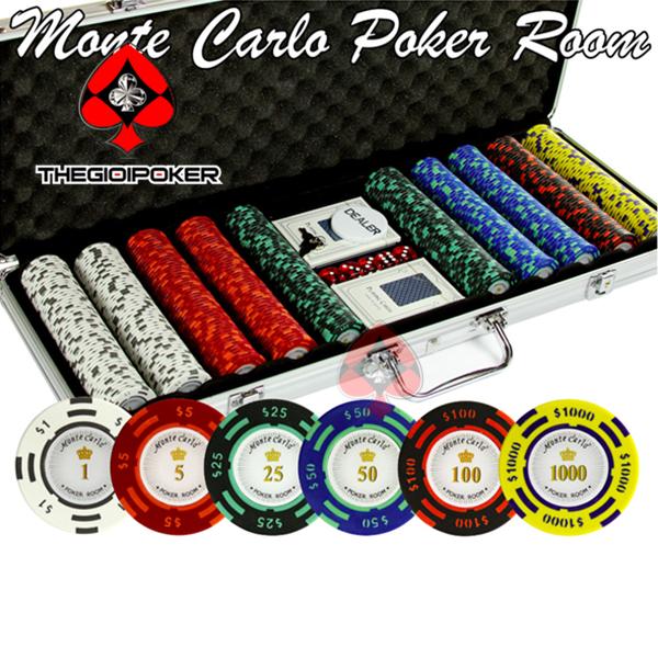 phỉnh poker 500 chip poker clay có số cao cấp
