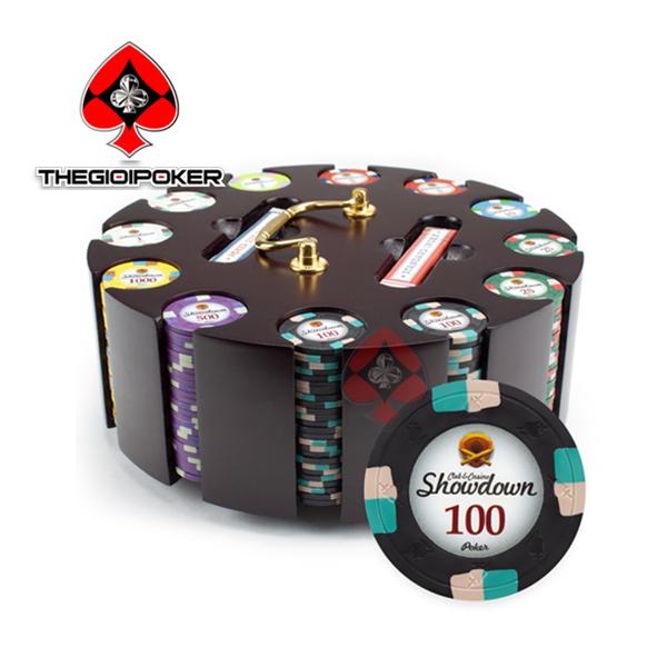 phỉnh poker cao cấp clay show down có số nặng tiêu chuẩn quốc tế 13.4gram