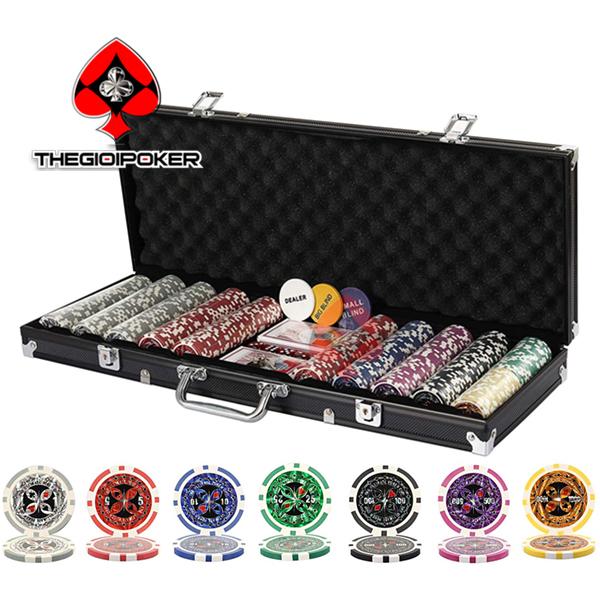 phỉnh poker cao cấp só số chất liệu clay nặng tiêu chuẩn quốc té 13.5gram