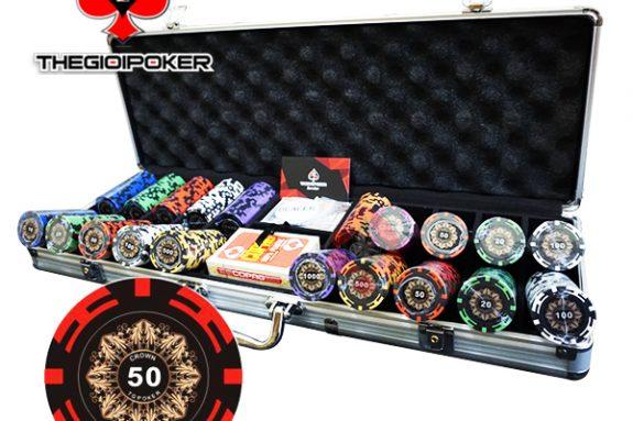 phỉnh poker crown clay cao cấp có số dành cho poker club chuyên nghiệp