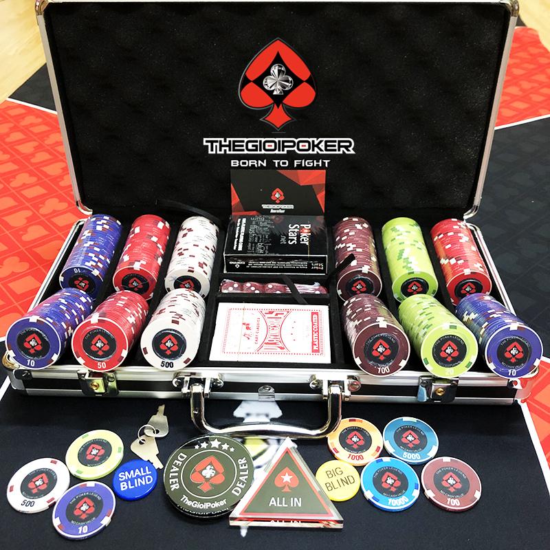 Bộ Phỉnh poker 300 chip ceramic Legend Hot 2020