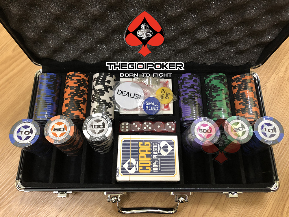 phỉnh poker 300 chip poker casino chất liệu clay cao cấp