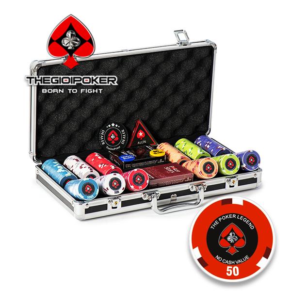 Phỉnh poker 300 chip poker ceramic the legend cao cấp mới nhất 2020 được nhập khẩu từ mỹ bởi Thegioipoker