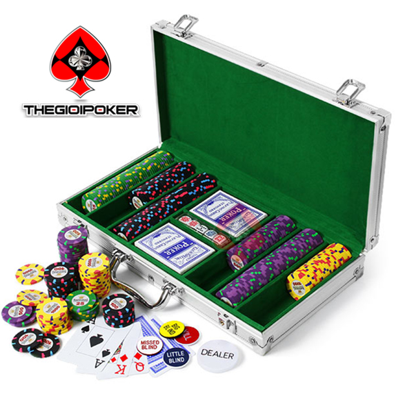 poker chip set casino ceramic Rio