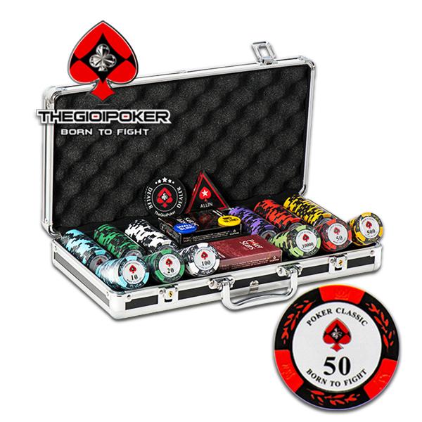 Set 300 chip poker clay classic chính hãng được nhập khẩu và phân phối độc quyền bởi TheGioiPoker