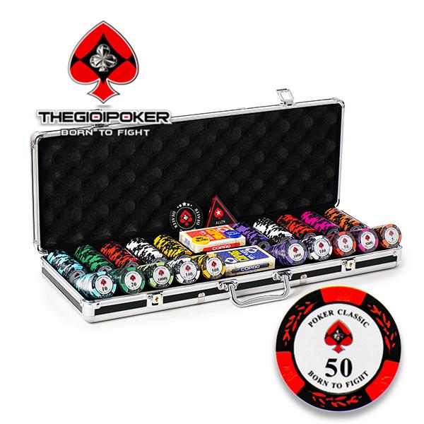 Set 500 Chip Poker Classic được nhập khẩu bởi TheGioiPoker