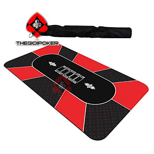 Thảm poker cao su cao cấp M4 màu đỏ game land