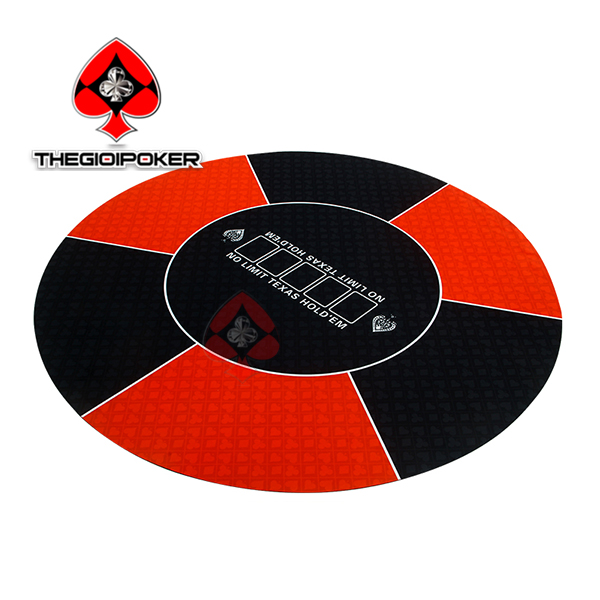 thảm poker cao su tròn t1 màu đỏ game land table top poker