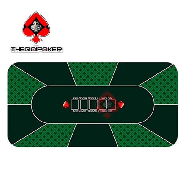 Thảm poker cao su cao cấp M3 được thiết kế dành cho 10 người chơi