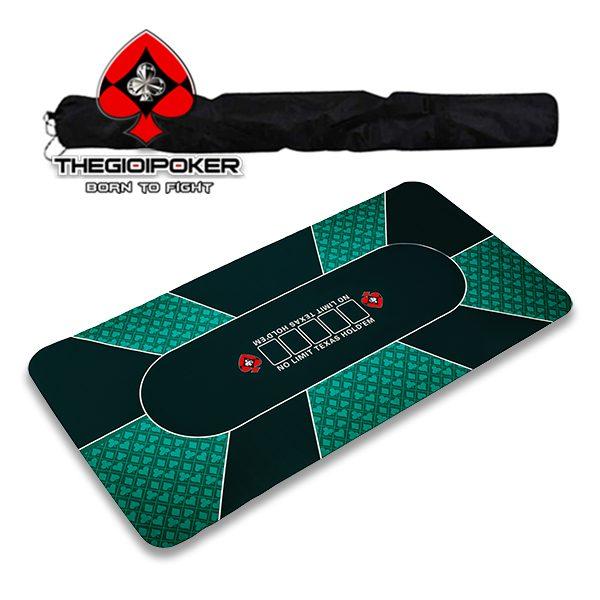 tham_poker_cao_su_M5_Green_co_tui_deo_tien_di_chuyen