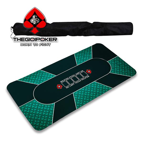 Thảm poker cao su Cao cấp có túi đựng thể thao rất tiện di chuyển