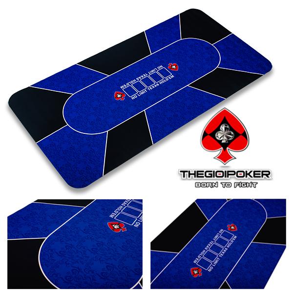 Thảm poker cao su cap cấp Blue chính hãng Thegioipoker