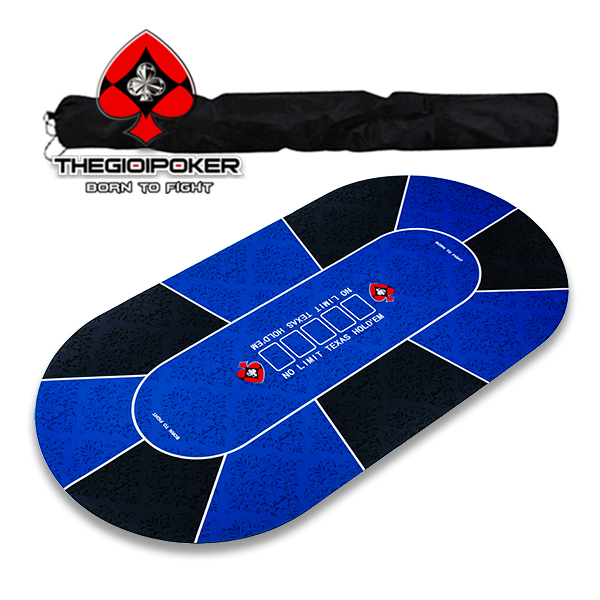 Thảm Poker Cao Su hình Oval Cao Cấp