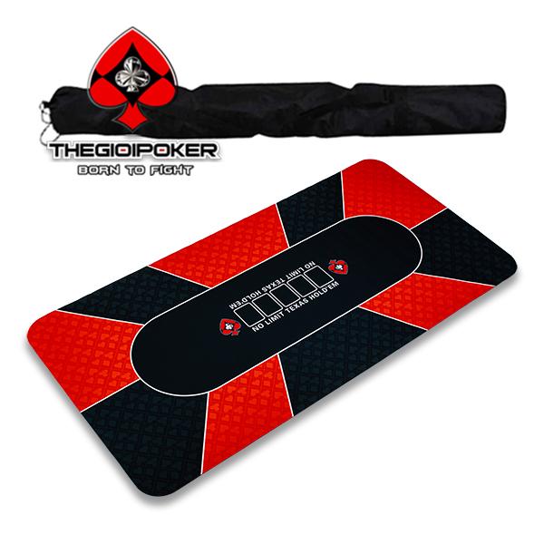 Thảm poker cao su cao cấp có túi đeo thể thao rất tiện cho việc du lịch