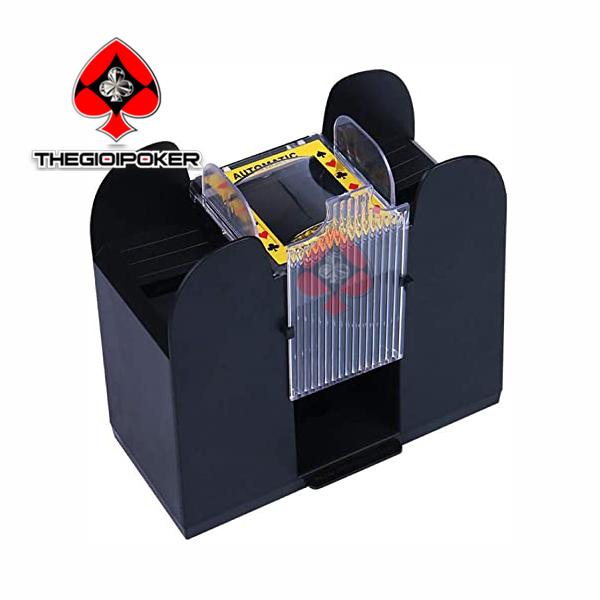 máy xáo bài tự động card shuffler xáo 6 bộ bài nhựa liên tục giúp chống gian lận chơi bài