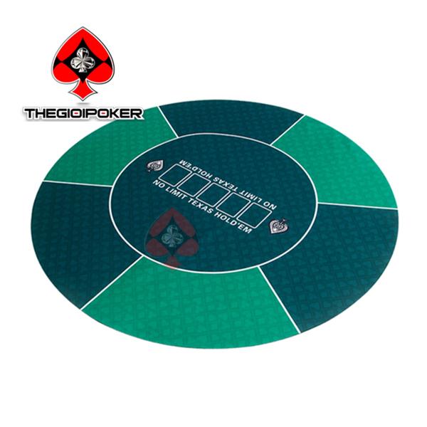 thảm chơi poker cao su hình tròn game land poker table top